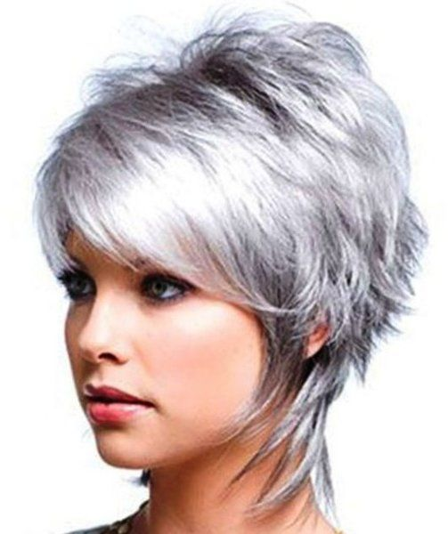 2020 New Gray Hair Wigs For African American Women Cheap Human Hair Wigs Wigs Near Me Now 360 Lace Wig Realistic Mens Wigs Grey Ombre