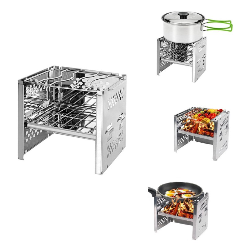 Portable Stainless Steel Folding Outdoor Grill📣50% OFF