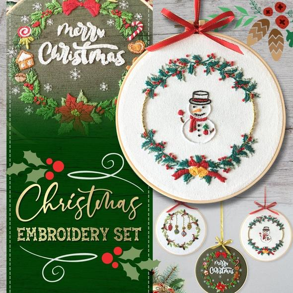 🎄Christmas Embroidery Set-BUY 5 FREESHIPPING🔥【BEST SALE】