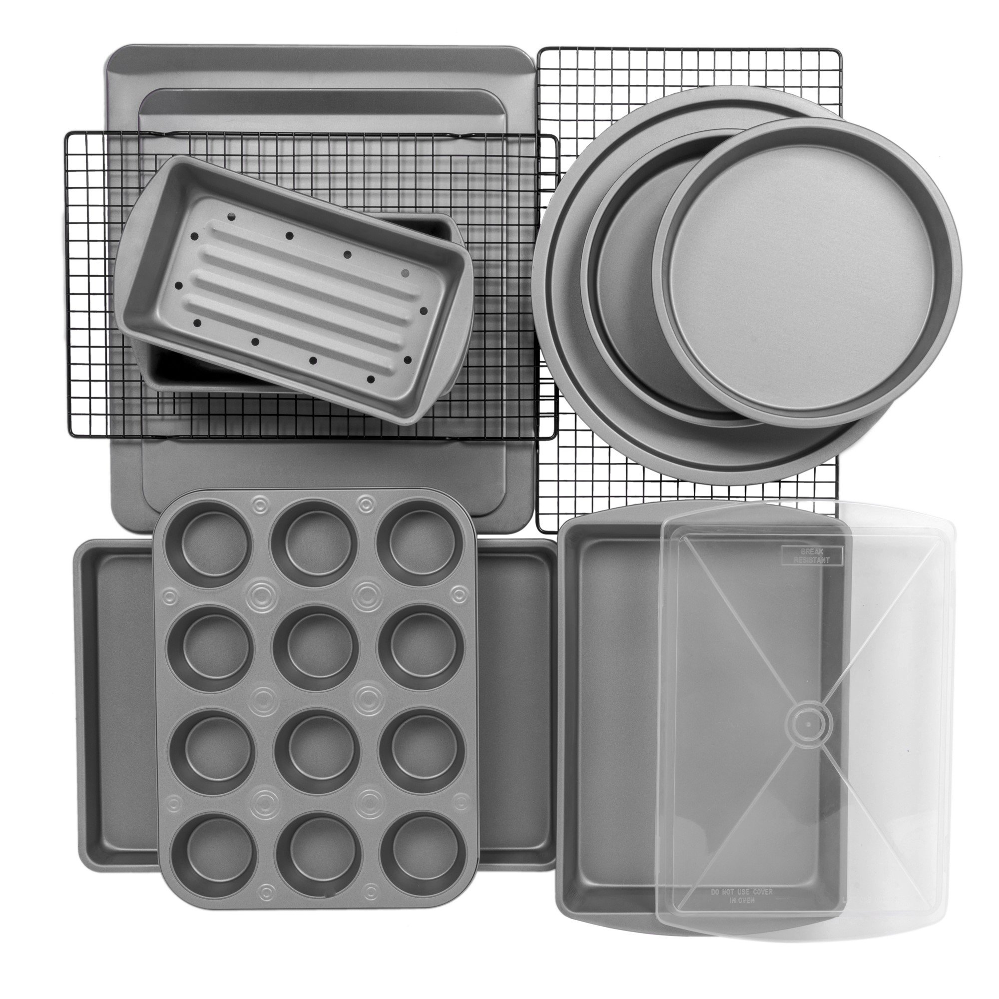 12-Piece Bakeware Set, Muffin Cookie & Pizza Pans-Bakeware Sets 3.24