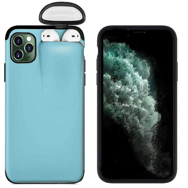 (Last 2 Days Promotion - 50% OFF) 2 in1 AirPods IPhone Case & Buy 2Free Shipping