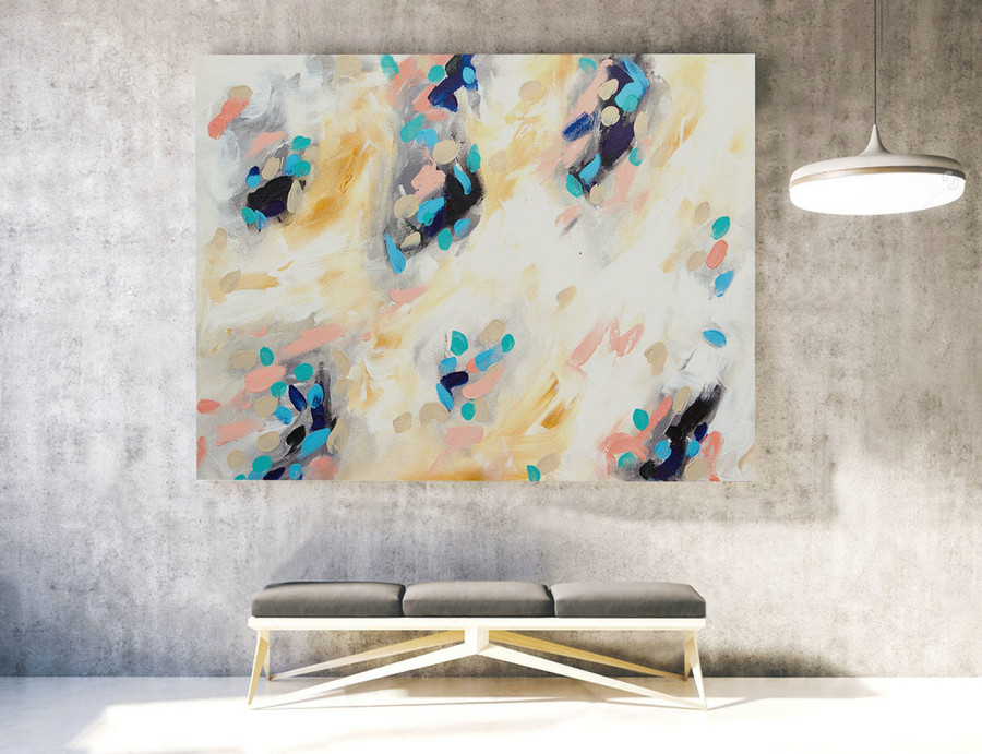 Extra Large Wall art - Abstract Painting on Canvas, Contemporary Art, Original Oversize Painting LAS038