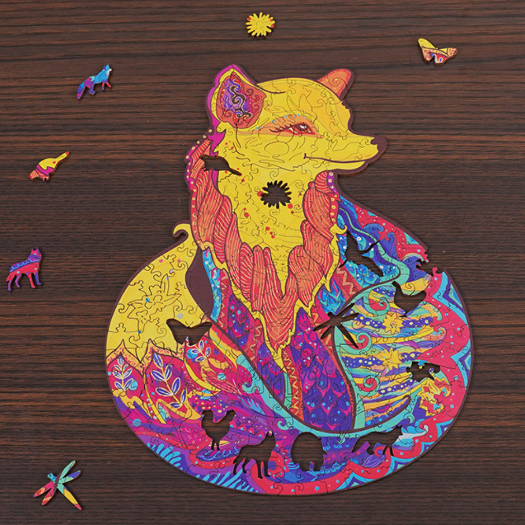 (Puzzle Gift)2021 Fantasy Animal World Wooden Puzzle