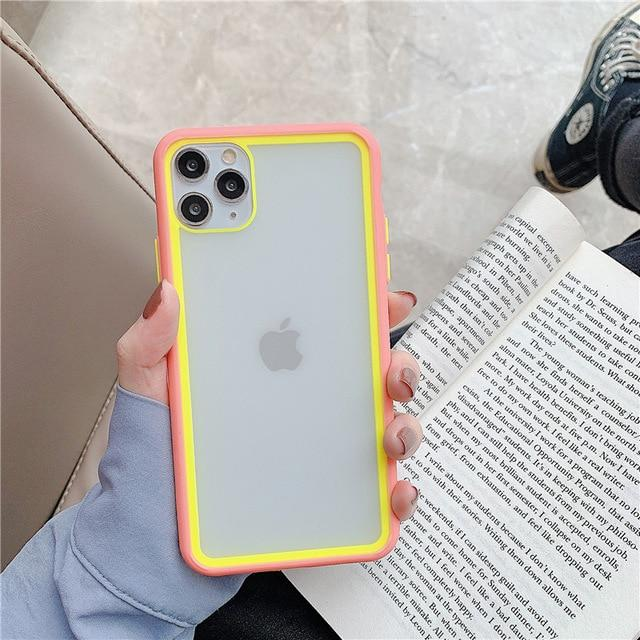 Clear Splicing Candy Color Case