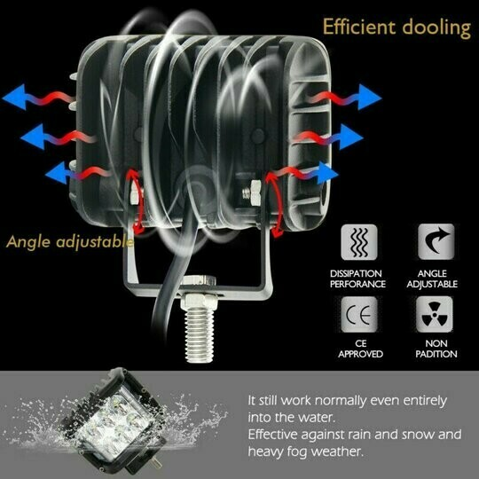 3.75 INCH DOUBLE-SIDED SHOOTING DUAL-COLOR FLASH CREE POD