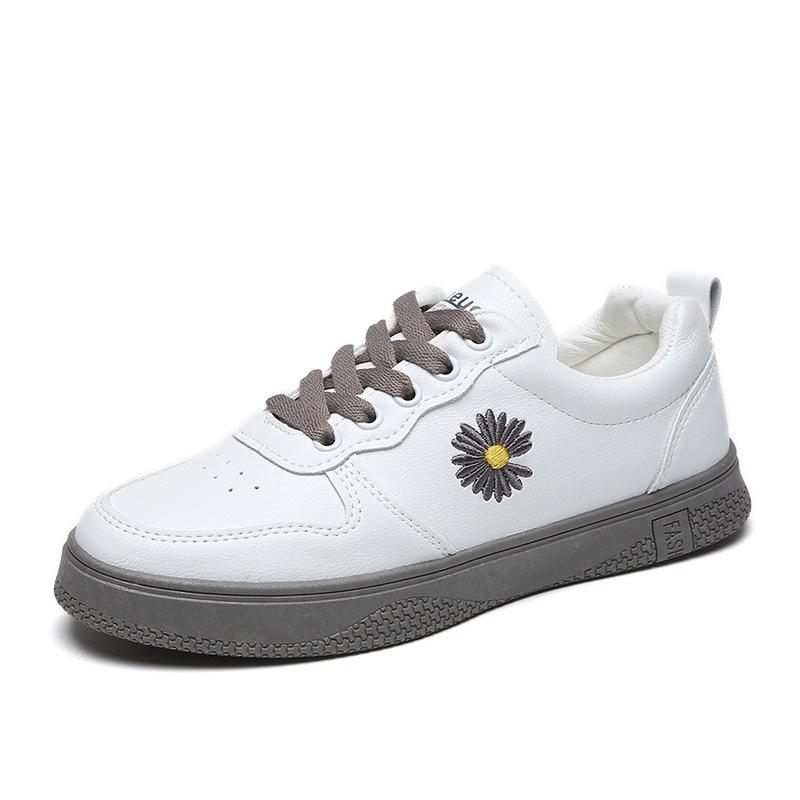 Women Hot Fashion Shoes Flower Lace Up Platform Sneakers