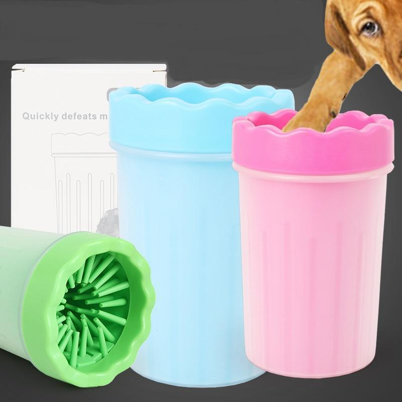 Pet Foot Clean Cup Soft Plastic Washing Brush Paw Washer