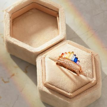 🌈S925 DOUBLE BAND RAINBOW RING💍