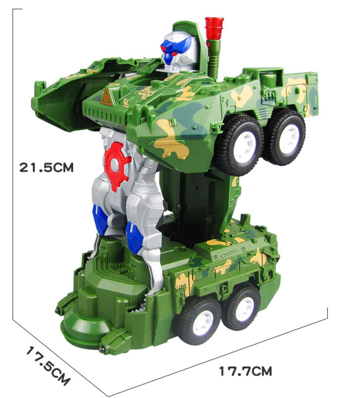 2020 new electric deformed tank robot with LED lights and music