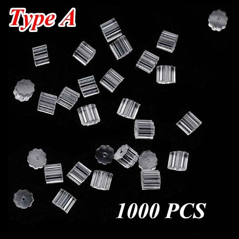1000 Pcs  Earring Back Stoppers Rubber Earring Back Supports Jewelry Accessories 3.5MM
