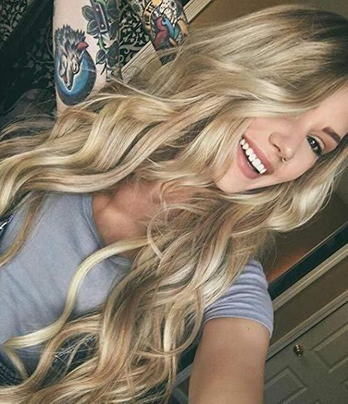2020 Fashion Ombre Blonde Wigs 613 Lace Front Wig Human Hair