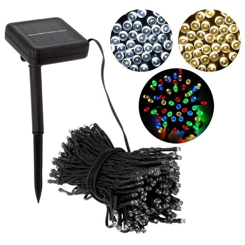 Decorative Solar Christmas Lights 100 LED Modes Fairy String Light for Outdoor Wedding Party Seasonal Decorations