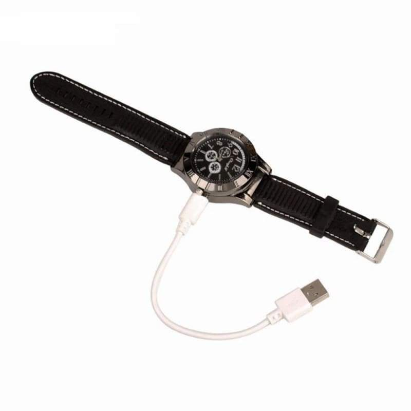 Military Lighter USB Electronic Watch Windproof Flameless Cigarette Men's Lighter Watches