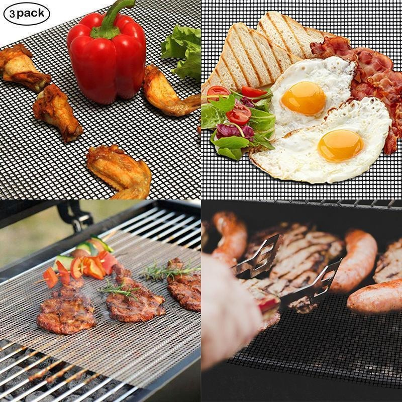 (❤️Father's Day Flash Sale - 65% OFF)NON-STICK BBQ GRILL MESH MAT , Buy 2 Get 1 Free