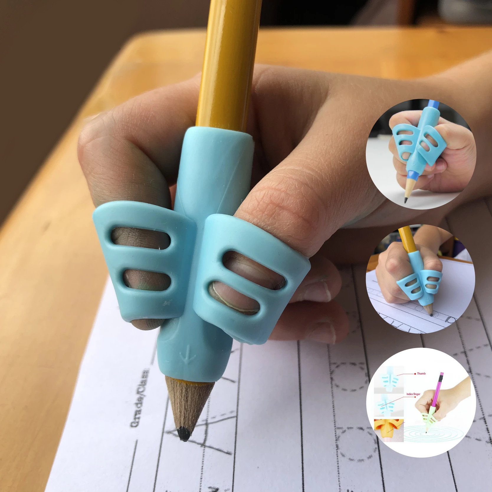 (CHRISTMAS PRE SALE - SAVE 50% OFF) Ergonomic Training Pencil Grip (3pack) - Two Fingers