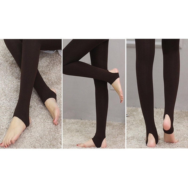 Women Leggings Brushed Stretch Thick Autumn and Winter Pants Tight Warm Leggings