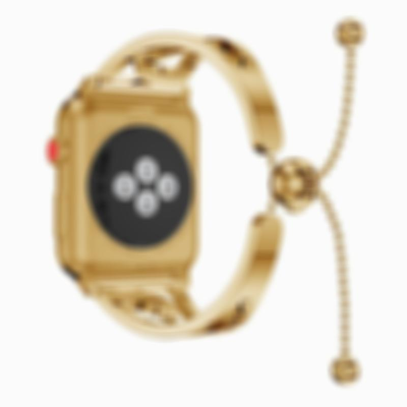 Apple Watch Band Women Stainless Steel Adjustable Watchband Strap Luxury Jewelry For Iwatch 1 2 3