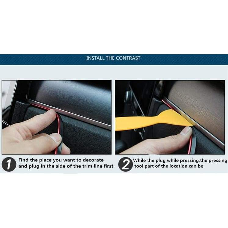 5 M Adhesive Strips for Car Interior Decoration Molding Door Line Air Vent Panel Direction-Flexible Wheel In Car Styling Auto Accessories