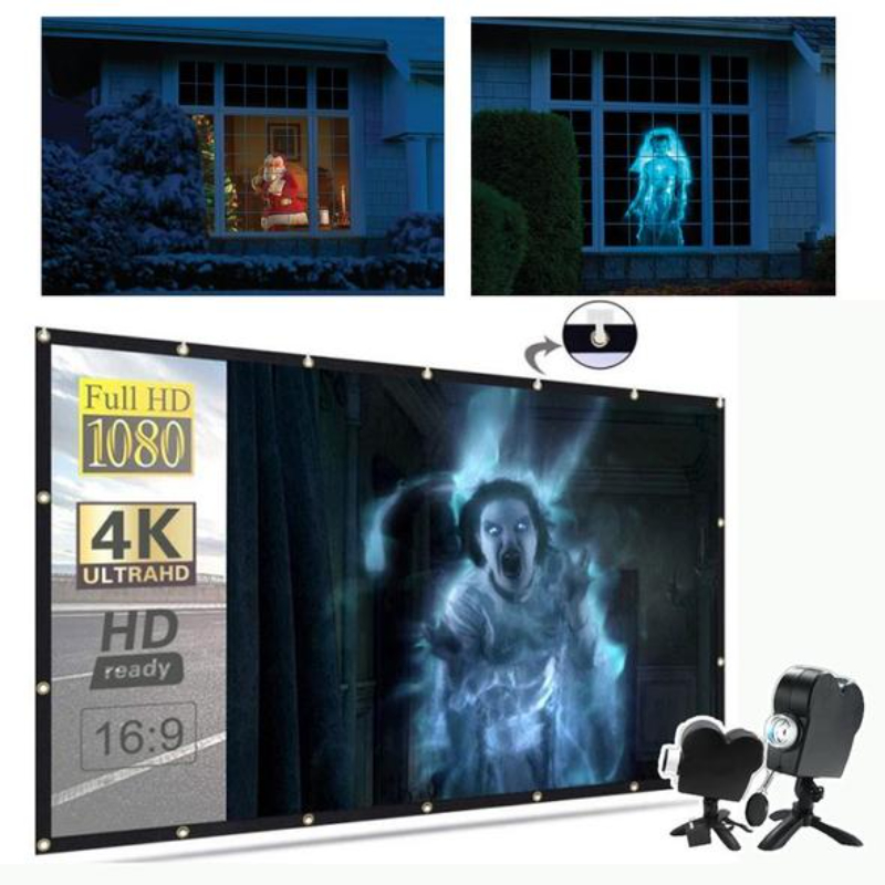 Halloween Christmas Holographic Projector