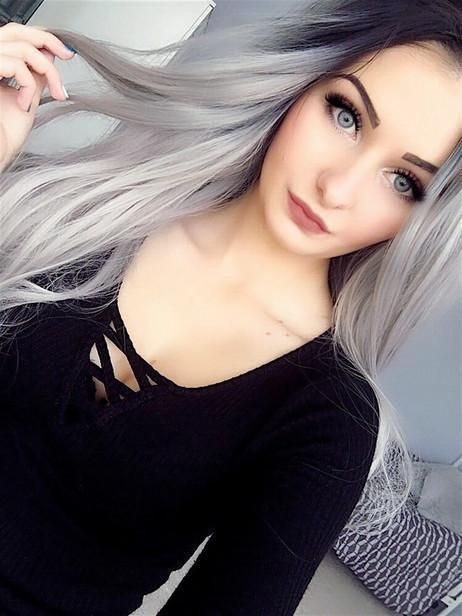 Gray lace front wig?a140%(Extra Thick As In Video)
