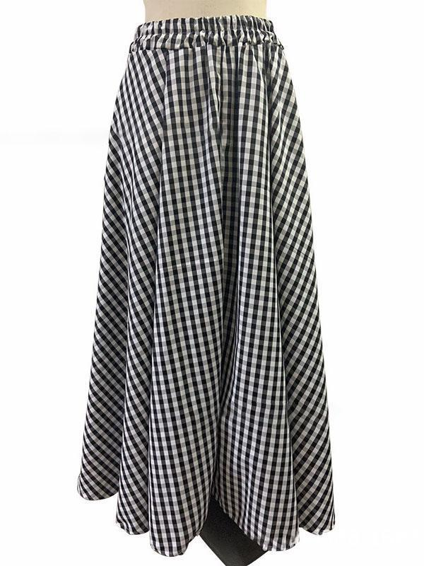 A-line Vintage Maxi Casual Skirts
