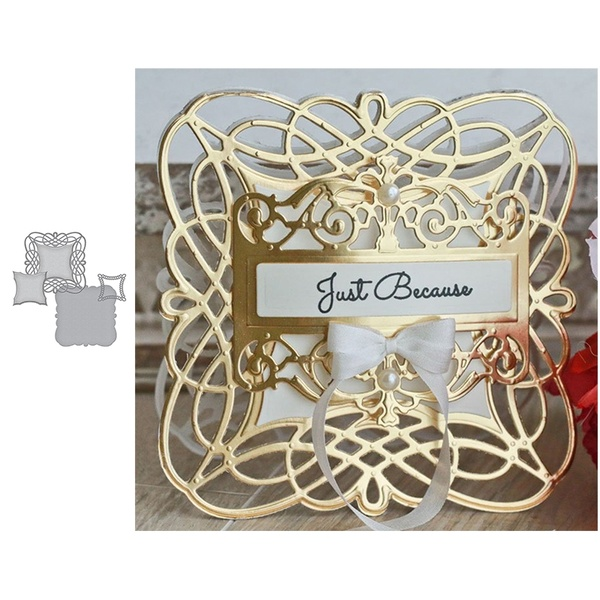 Decorative frame Metal Cutting Dies Stencils For Card Making Decorative Embossing Suit Paper Cards DIY Dies Scrapbooking