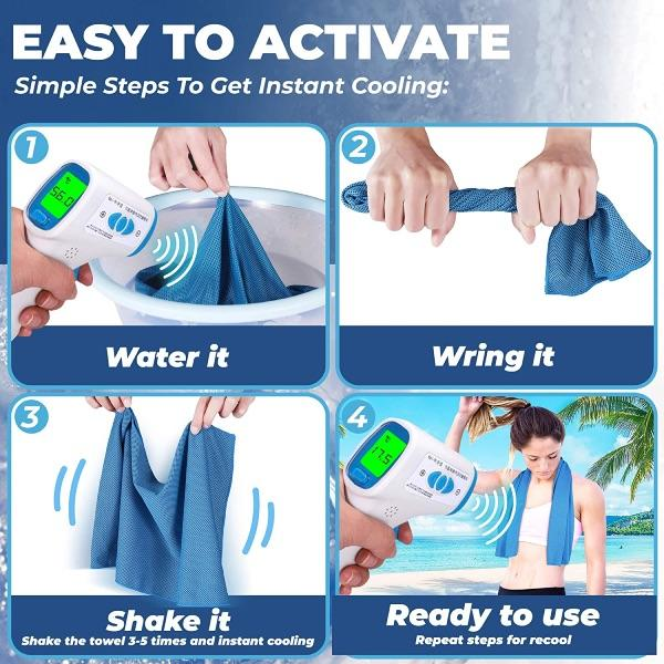 EXTRA MICROFIBER INSTANT COOLING TOWEL