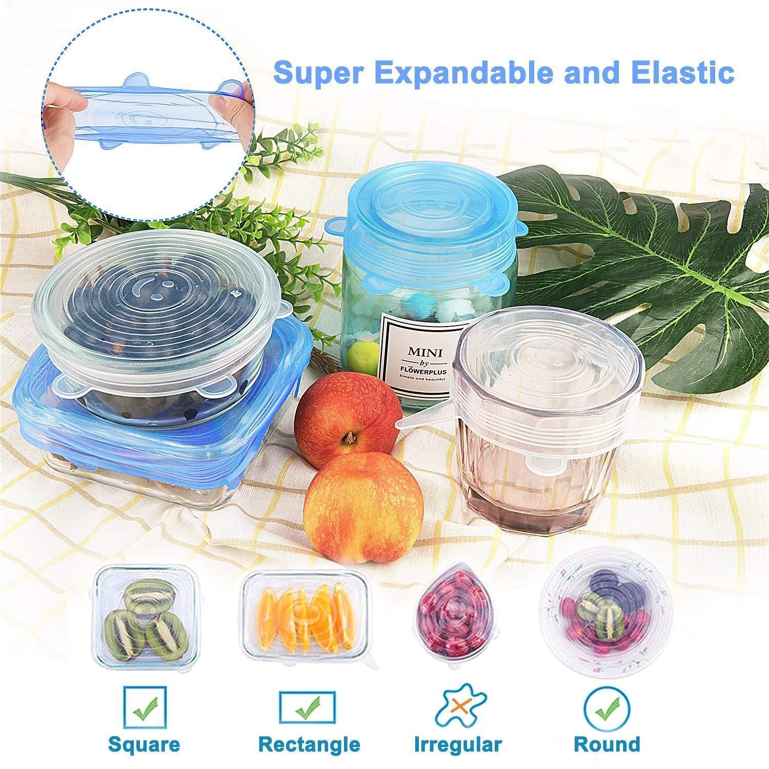 Kitchen utensils - soft stretchable silicone cap