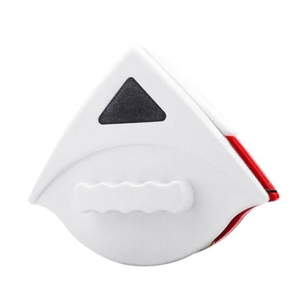 Triangle Double Sided Magnetic Window Glass Wipe Brush Scraper Cleaner