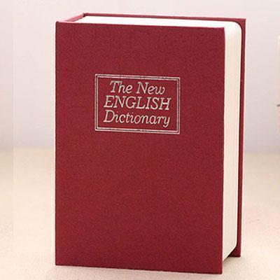 【Creative new product】Simulation English dictionary book safe