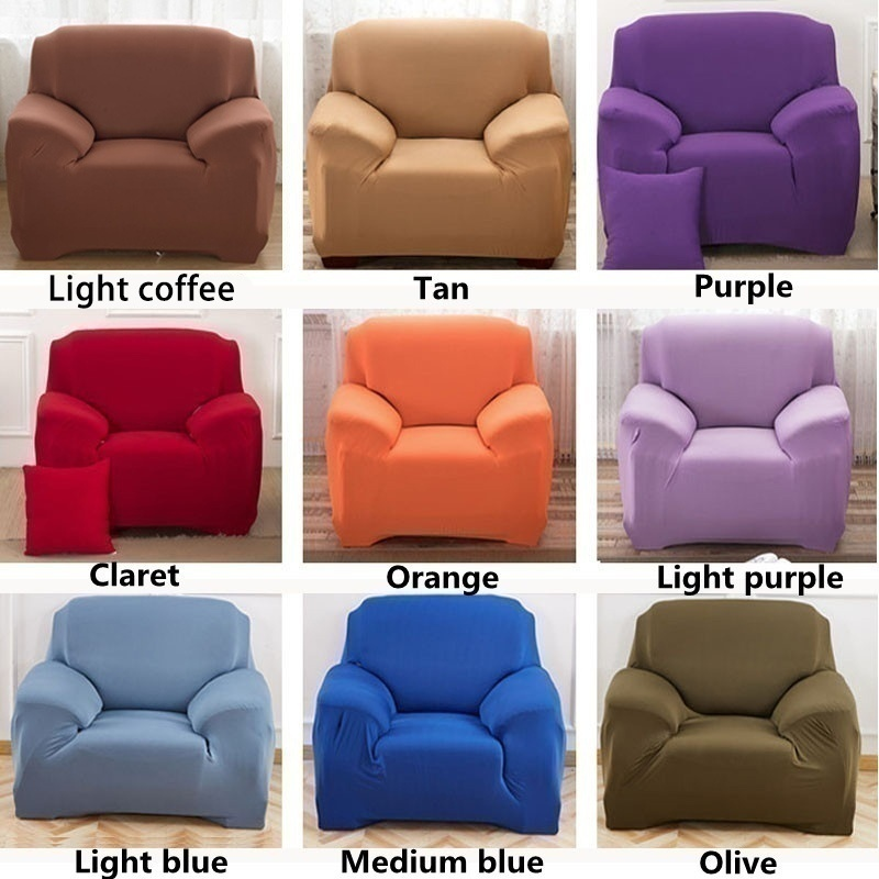 Popular Modern 18 Colors 1/2/3 Seaters Printing Sofa Cover Anti-dirty Anti-Slip Full Tight Wrap Couch Cover All-inclusive Furniture Covers Home Decoration