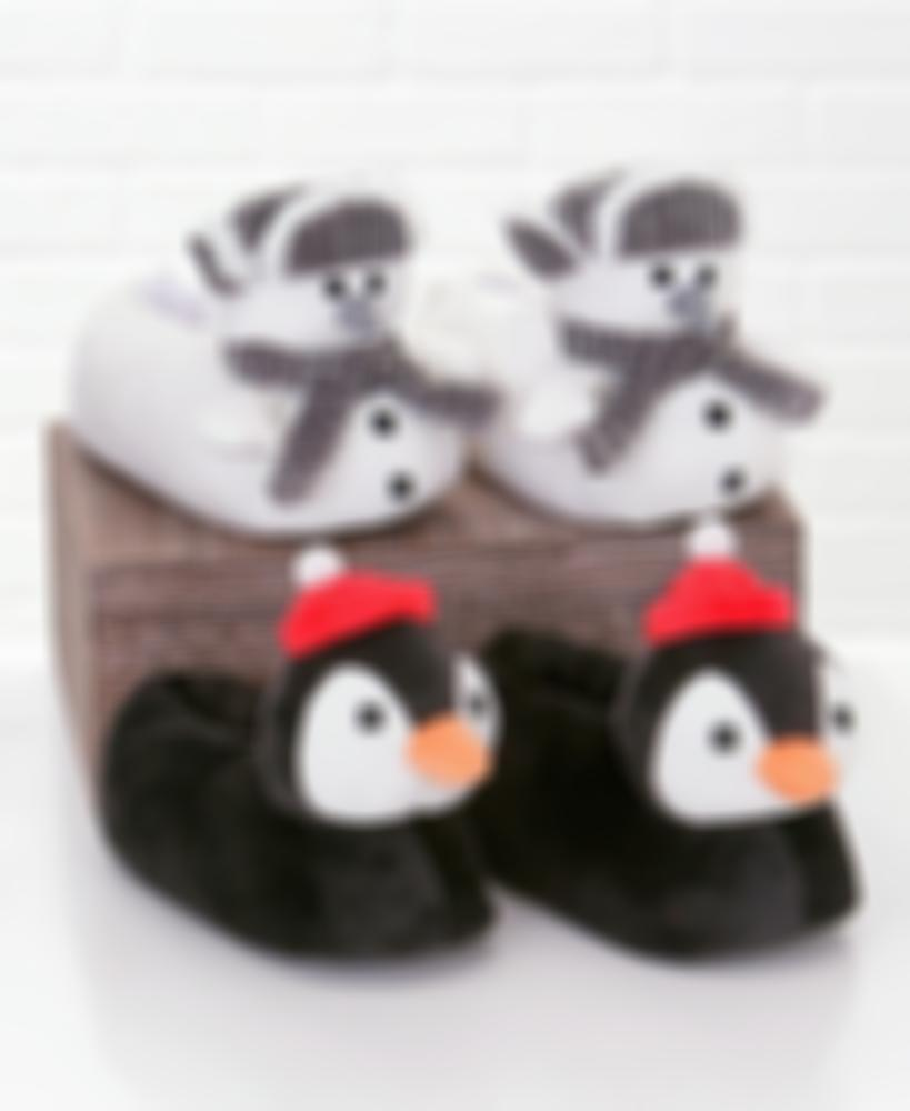 3-D Holiday Character Slippers