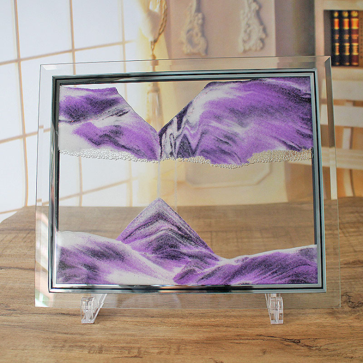 Glass dynamic quicksand frame hourglass (Buy 2 free shipping)