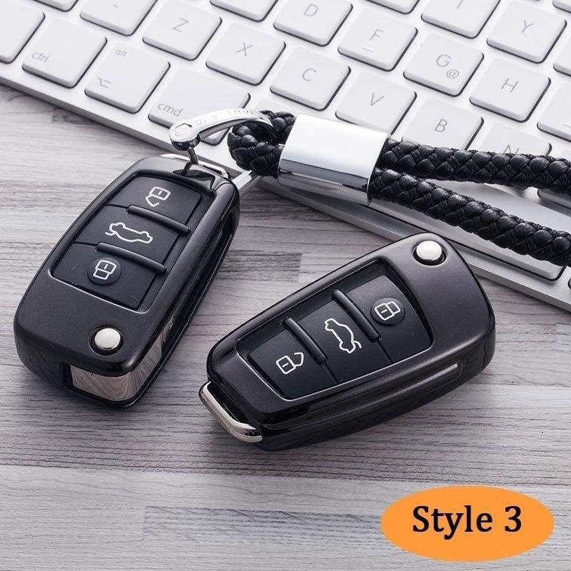 TPU Car Remote Key Cover Fob Case Smart Key Shell Tapa Clave For Audi A1 A3 A4 A6 S3 S4 S5 TT RS5 Key Protector Auto Parts Car Accessories