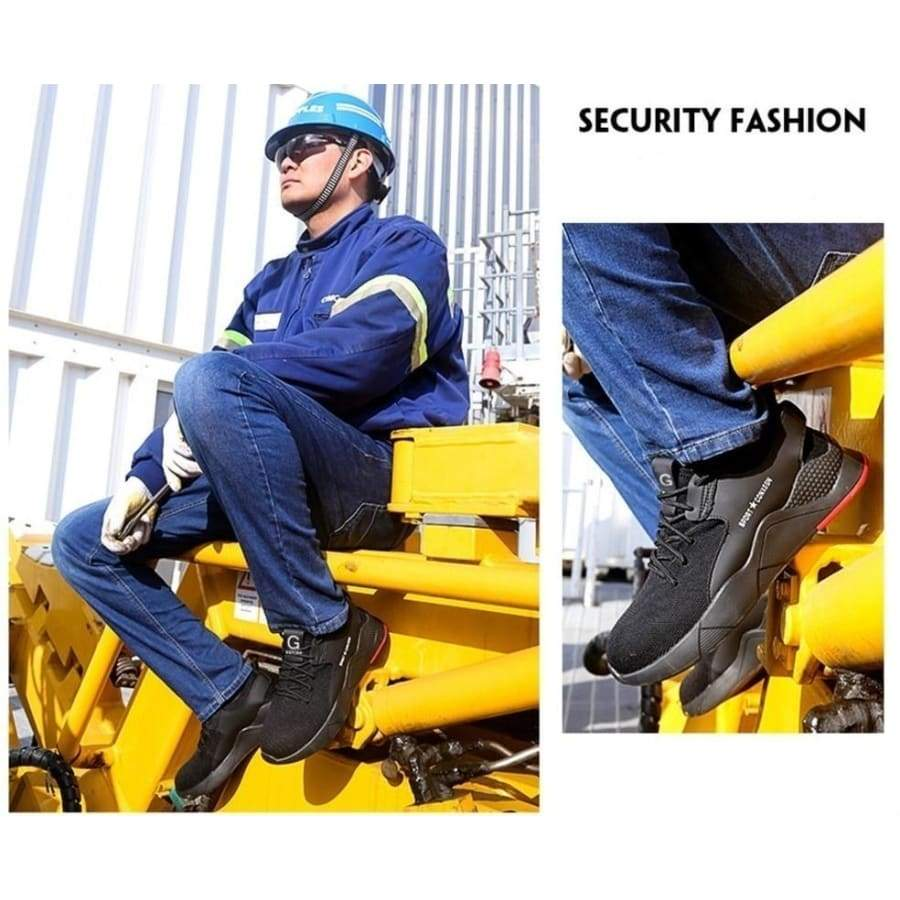 NEW Fashion Steel Toe Shoes Kevlar Fiber Safety Shoes Breathable Steel Toe Work Shoes for Men Size 35-50