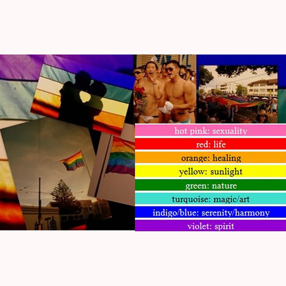 90x150cm Rainbow Flag Lesbian Gay Pride Symbol LGBT Flags and Banners Durable Big Polyester Colours