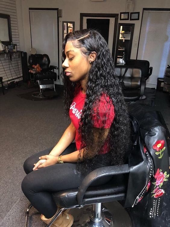 Lace Front Wigs Black Curly Hair Natural Curly Human Hair Wigs Indian Hair Closure Milky Way Braiding Hair