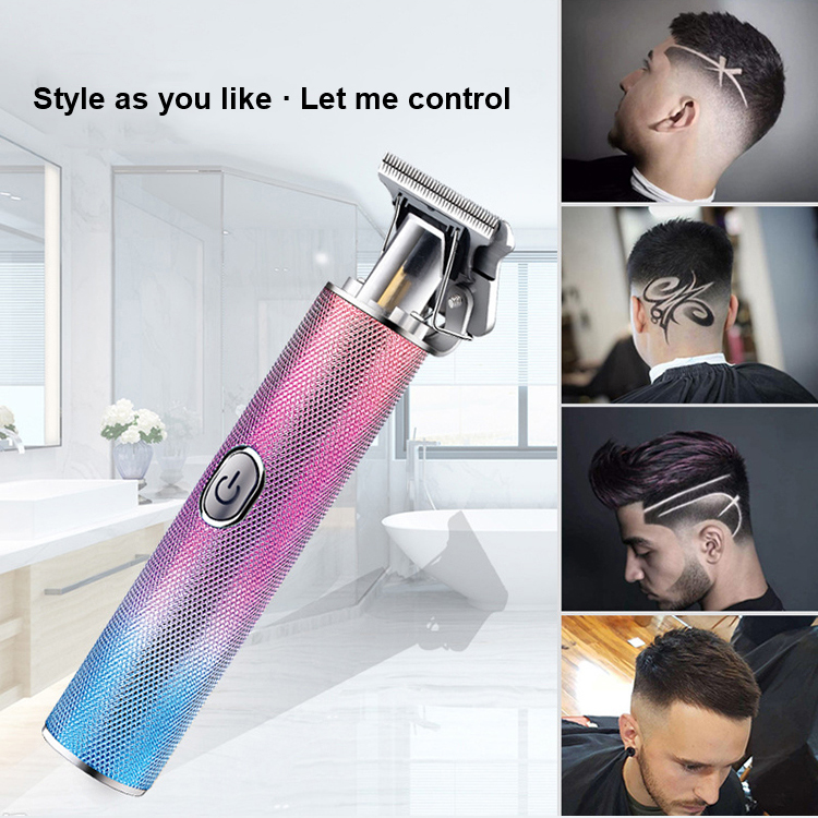 【Electric hair clipper】Greased hair clipper, shaved head, T-shaped tooth, carved bald hair clipper