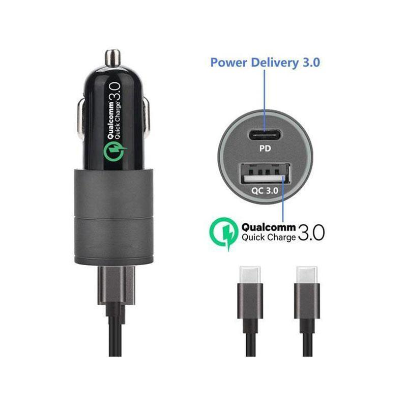 Dual Ports Qualcomm QC 3.0 Quick Charge Car Charger