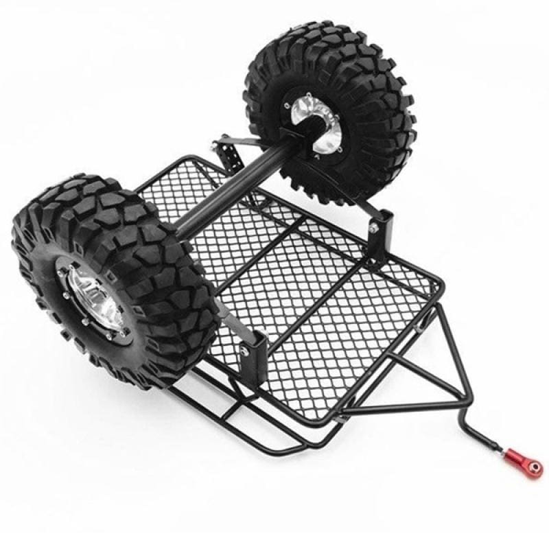 New Metal Trailer with Tire for 1/10 Traxxas Axial SCX10 D90 CC01 RC Rock Crawler