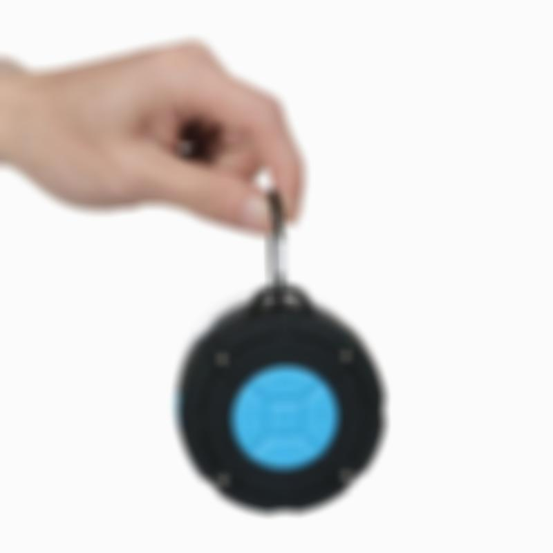 Portable Waterproof Wireless Bluetooth Shower Speaker for iPhone/Android