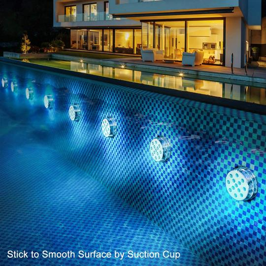 10 LEDS Submersible Light with Remote
