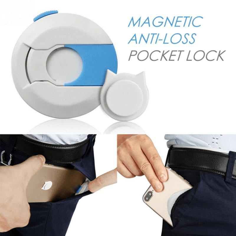 Magnetic Anti-Lost Pocket Lock for Phones/Wallets