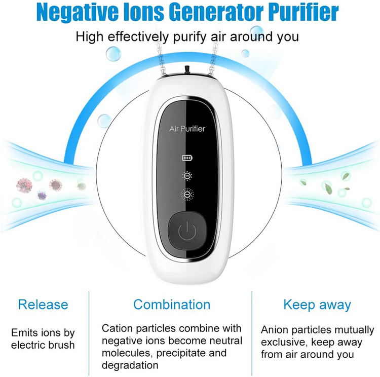 120 Millions Air Purifier Necklace Wearable Air Cleaner