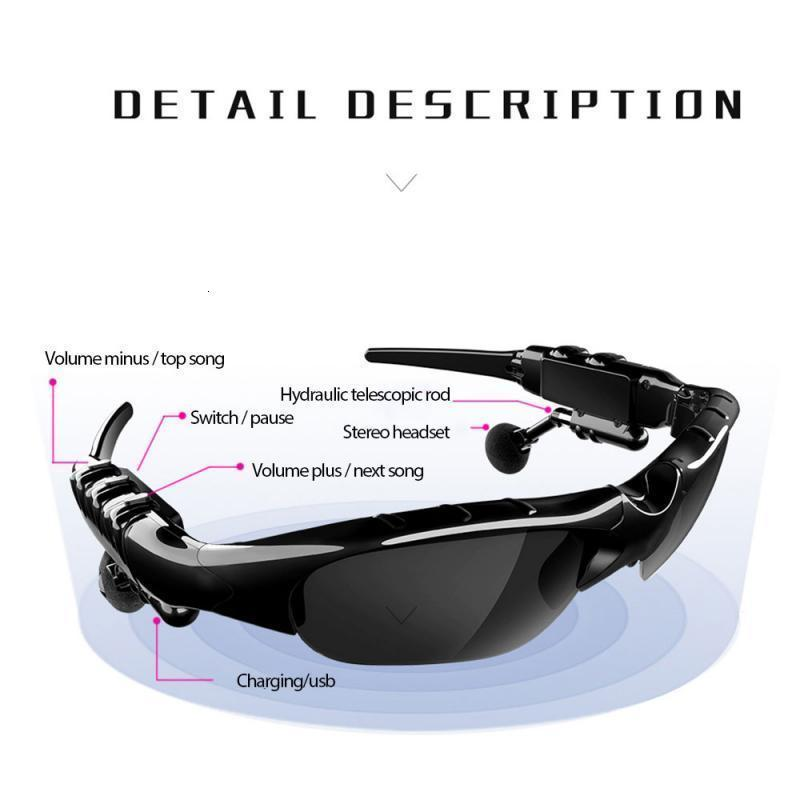 Sport Stereo Wireless Bluetooth 5.0 Headset Telephone Driving Sunglasses Mp3 Riding Eyes Glasses