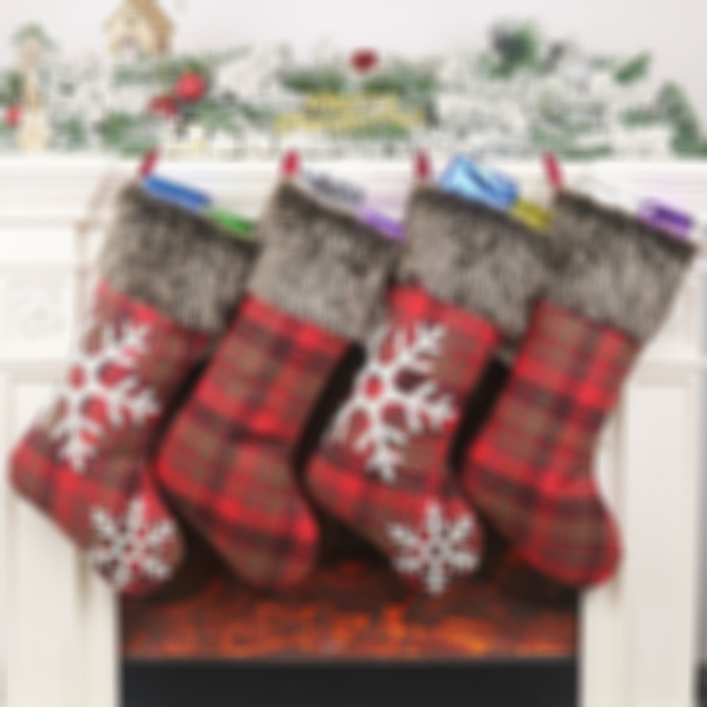 New Knitted Christmas stockings wool socks