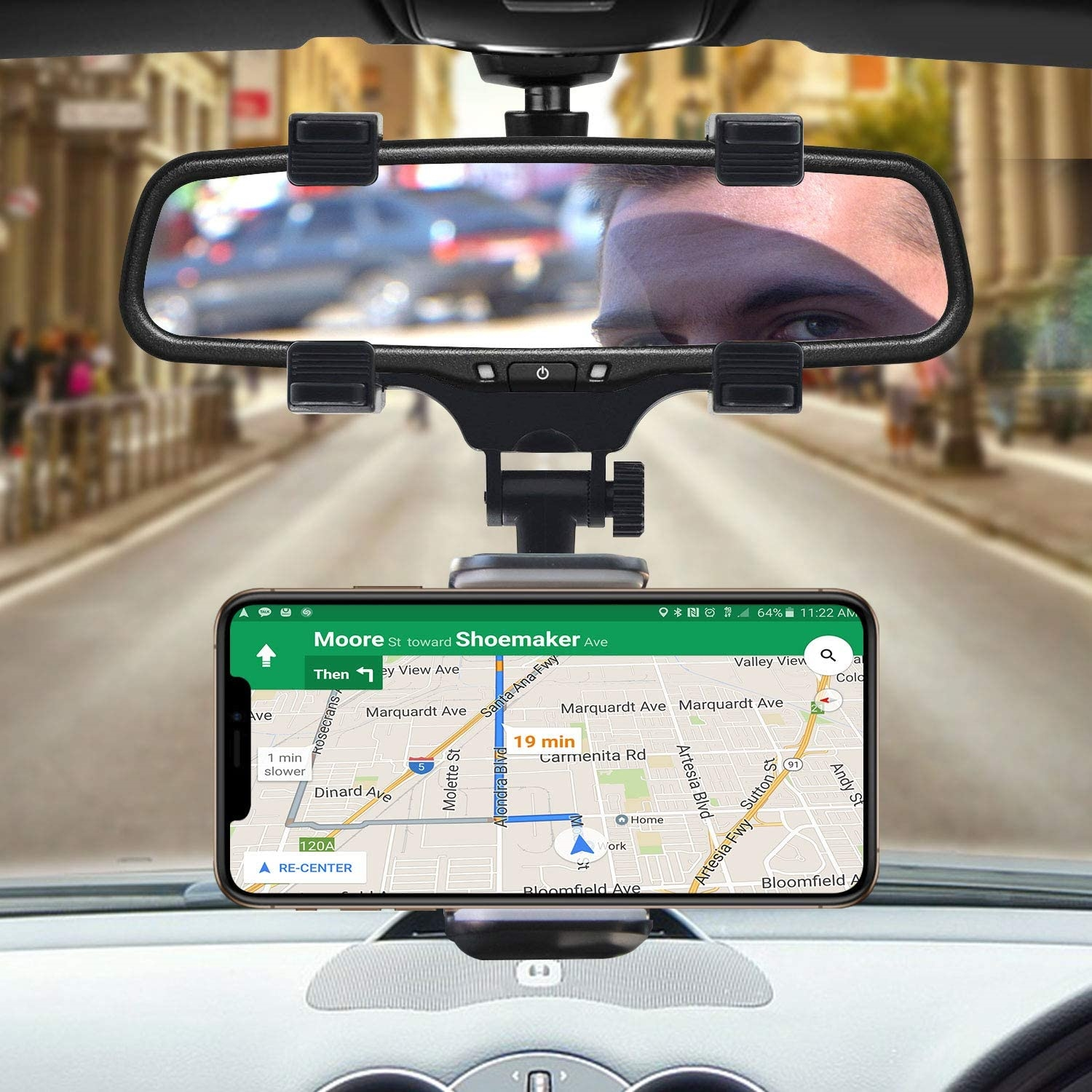 Rear View Mirror Phone Holder--Free shipping