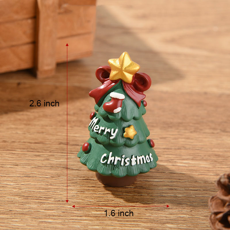 Christmas family mini ornaments-Santa Claus and his lovely friends