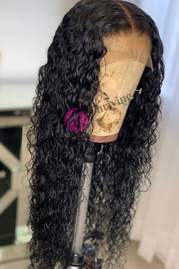 Curly Wigs Lace Front Curly Hair Black Hair Wigs For White Women 16 Inch Brazilian Curly Hair 3B Natural Hair Pure Lace Wigs