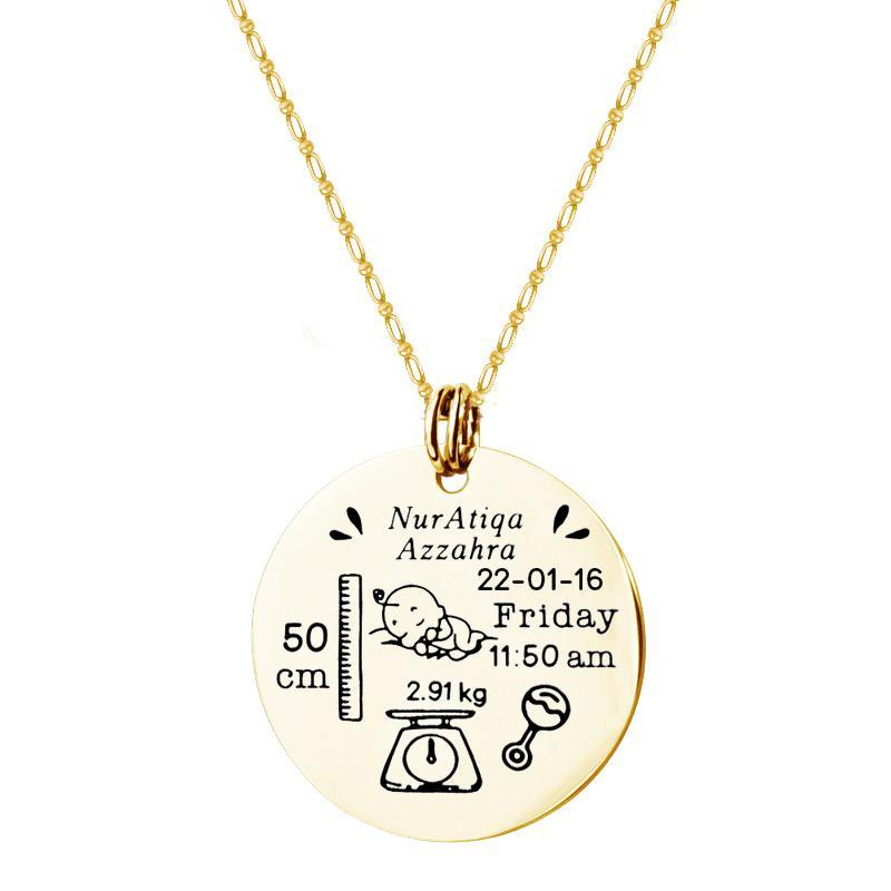 Mother's Love: Baby Necklace(Personalize Design)